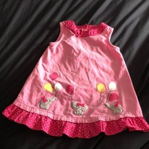 Gymboree pink corduroy dress sleeveless